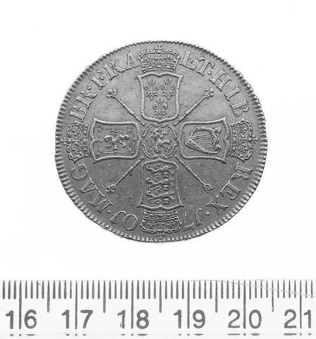 William III, (1694-1702), Five Guineas 1701, Second bust DECIMO TERTIO (S.3456).