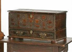 A late 18th Century childs' mule chest,