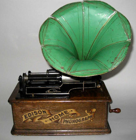 A phonograph with four spools