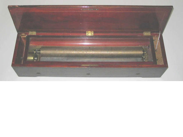A rare Nicole Freres pianoforte twenty-two inch cylinder musical box,