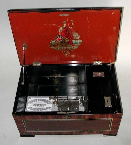 A B. H. Abrahams 'Britannia' disc musical box