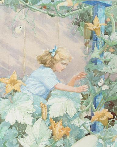 Arthur H Buckland (b.1870) 'Elusion' 40 x 32cm