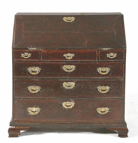 An 18th Century pollard oak bureau,