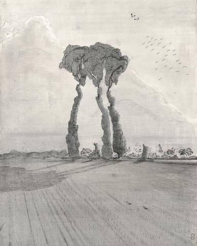 Paul Nash A Landscape  39cm x 32cm