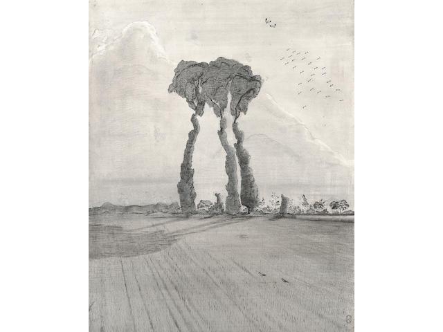 Paul Nash (1889-1946) The Three 39 x 31.5 cm. (15 3/8 x 12 3/8 in.)