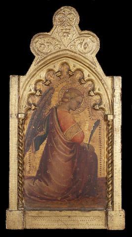Spinello Aretino (Arezzo 1350/52- 1410) The Annunciation 60 x 32 cm. (23¾ x 12¾ in.) (2)