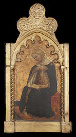 Spinello Aretino (Arezzo 1350/52- 1410) The Annunciation 60 x 32 cm. (23¾ x 12¾ in.) (2)