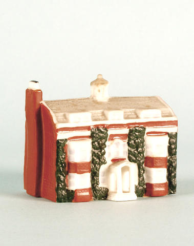 A WH Goss model of Charles Dickens' House, Gads House, Rochester,