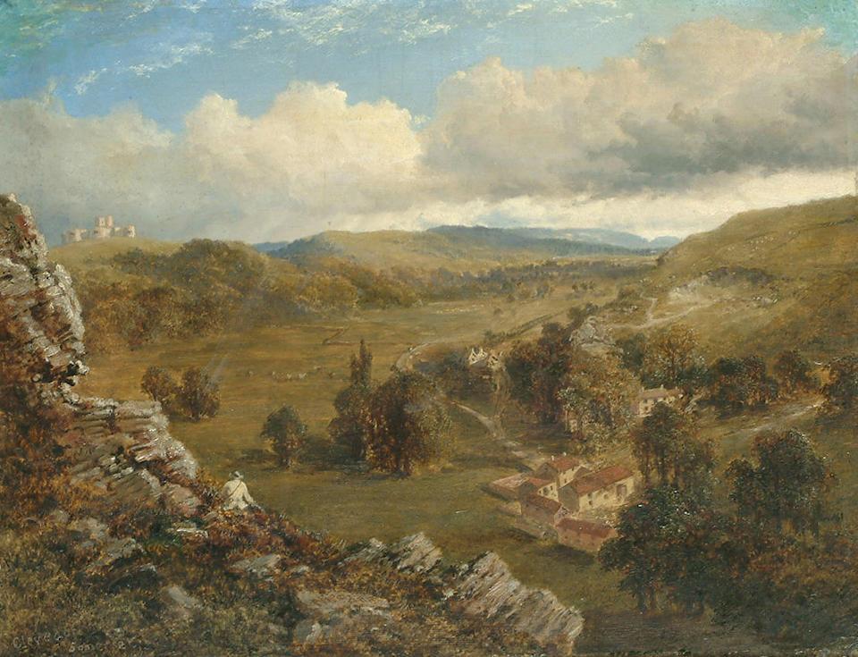 Edmund John Niemann (British 1813-1876) Clevedon, Somerset, 14 x 18 in. (36 x 46 cm.)
