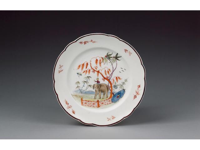 A fine Nantgarw plate circa 1818-20
