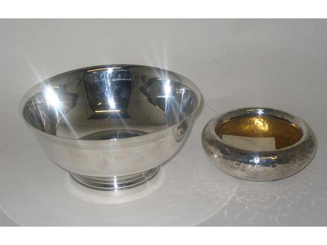 "A Continental circular dish, stamped ""925"","