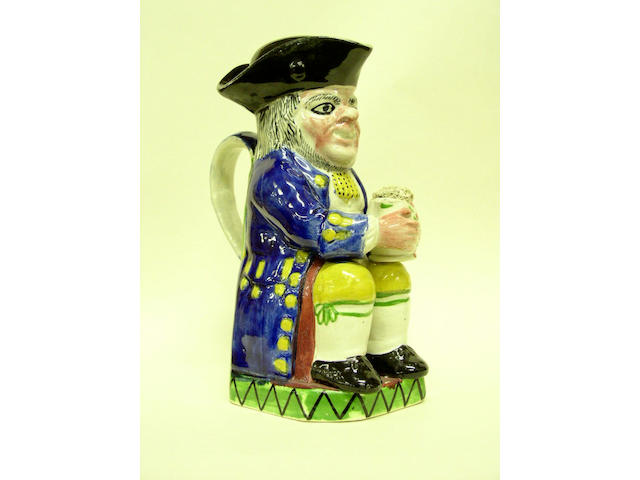 Toby jug and lid