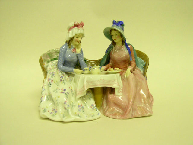 A group of Royal Doulton figurines,
