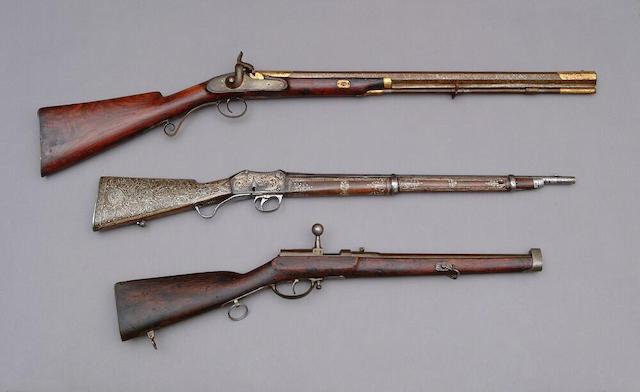 A Prussian Model 1857 needlefire cavalry carbine