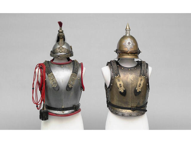 A Prussian other rank's Garde du Corps helmet, breast and backplate