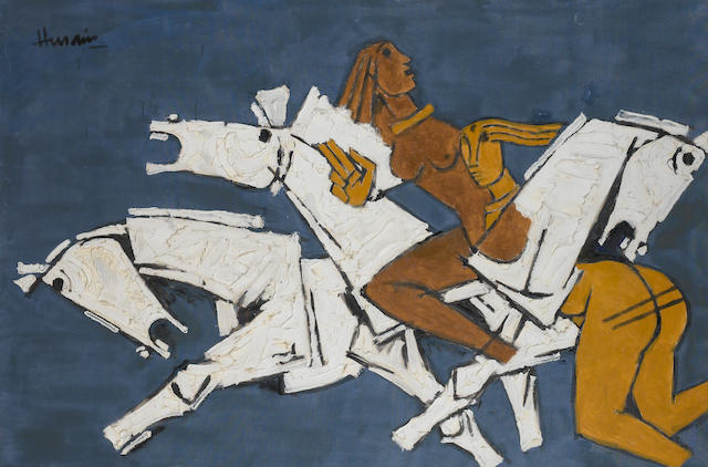 Maqbol Fida Husain (India, b.1915) Horses and Nudes