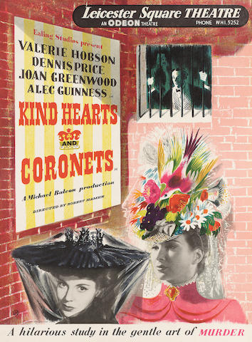 James Fitton Kind Hearts and Coronets Photo-lithographic poster, printed in colours, by Graphic Reproductions Ltd; in very good condition, 570 x 420mm (22 1/2 x 16 1/2in)(SH)(unframed)