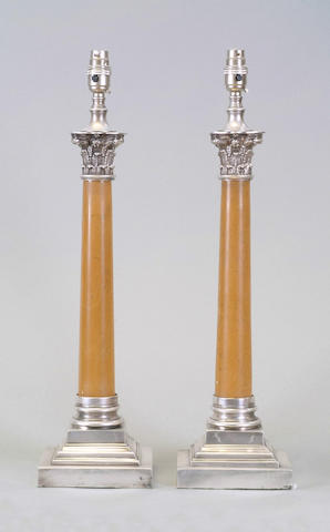 A pair of electric lamps unmarked,