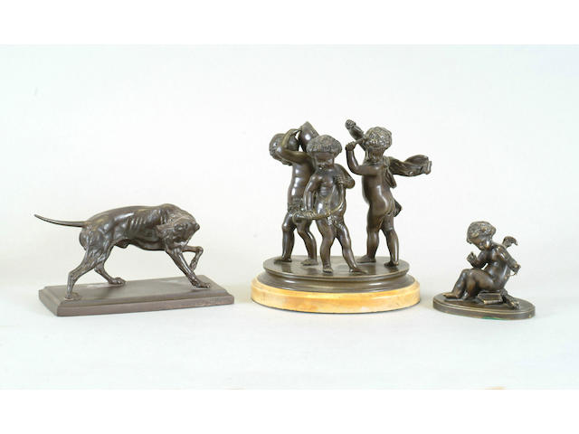 A bronze figure group