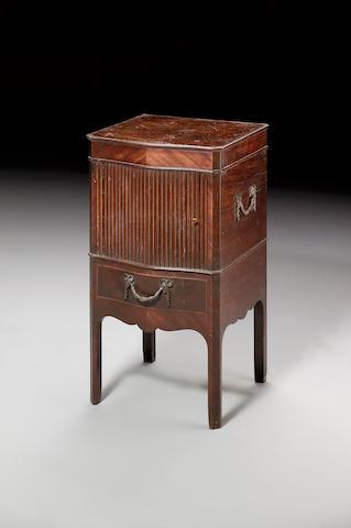 A George III mahogany serpentine Pot Cupboard