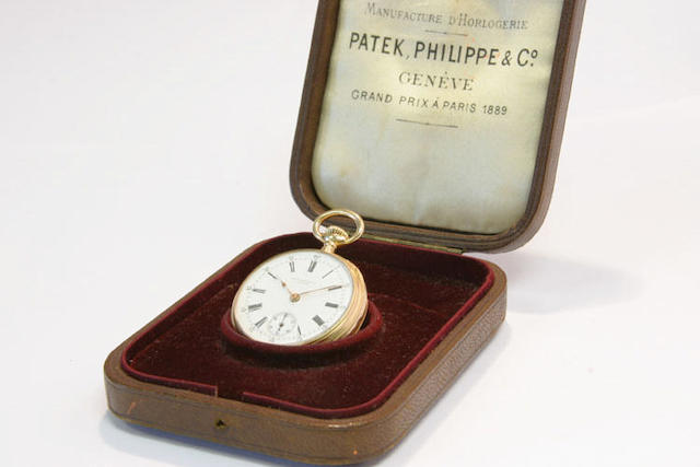 Patek Philippe. An 18ct gold keyless wind open face fob watch no.109362, circa 1898