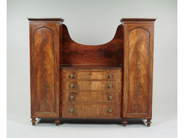 A William IV mahogany Gentleman's compactum