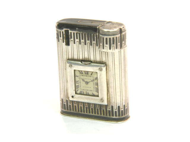 Cartier. An unusual silver lighter watch 1930s