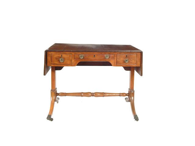 An Anglo- Chinese hardwood sofa table