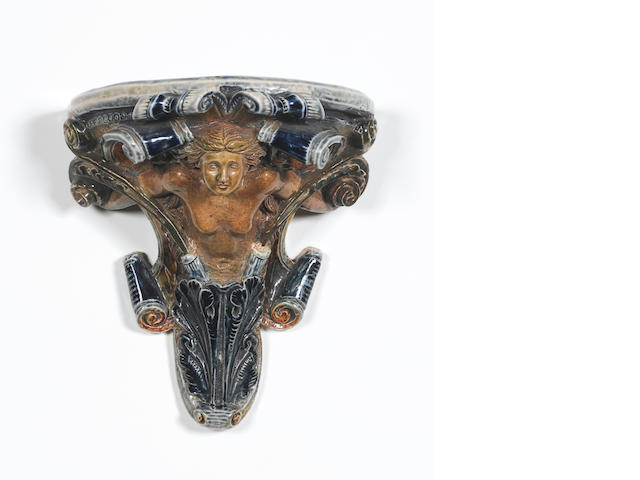 R.W Martin, 1878 An Unusual Figural Wall Bracket
