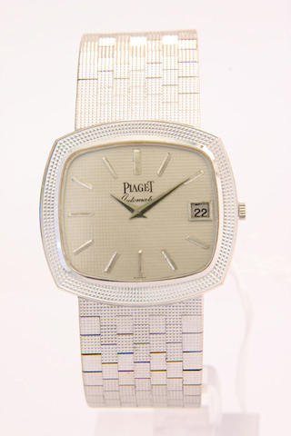 Piaget. An 18ct white gold automatic calendar bracelet watch  1970s