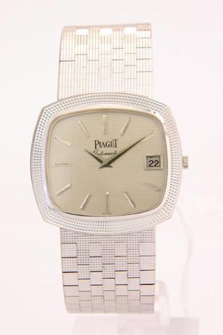 Piaget. An 18ct white gold automatic calendar bracelet watch  1970s