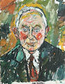 John Bratby (British, 1928-1992) Portrait of an unknown man 18 x 13 3/4 in. (46 x 35cm.)