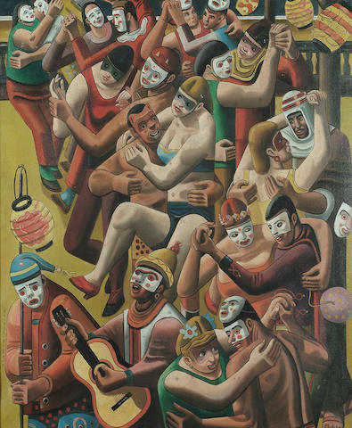 Raphael Delorme (French, 1886-1962) Circus Parade 24 x 20 in. (61 x 51cm.)