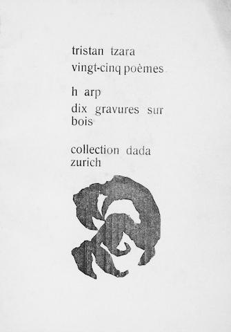 TZARA (TRISTAN) Vingt-cinq poèmes... Collection Dada, Zurich