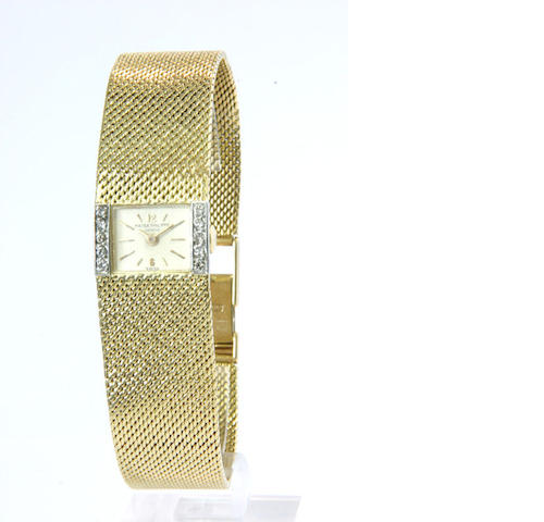 Patek Philippe An 18ct gold and diamond set bracelet watch ref:3319, case no.2632657, movement no.96