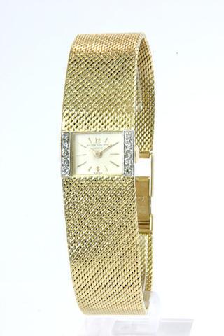 Patek Philippe An 18ct gold and diamond set bracelet watch ref:3319, case no.2632657, movement no.96