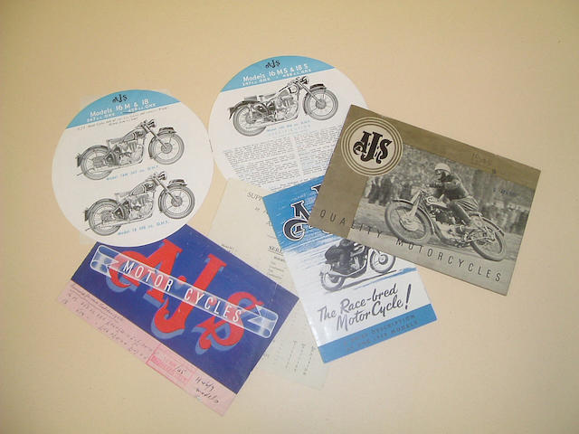 A rare 1948 AJS sales catalogue