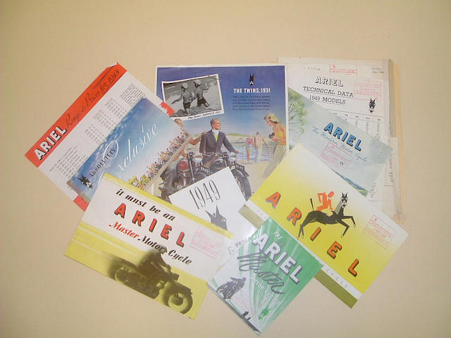 A 1948 Ariel Motor Cycle sales range catalogue