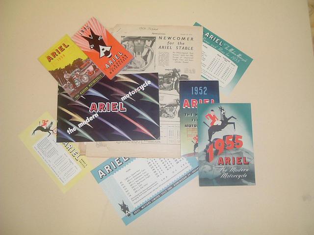 A 1957 Ariel range brochure