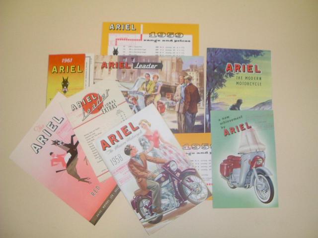 A 1958 Ariel range brochure
