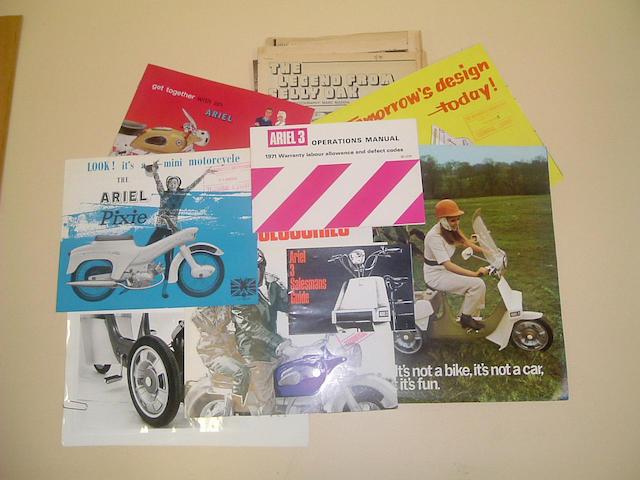 A 1962 Ariel range brochure