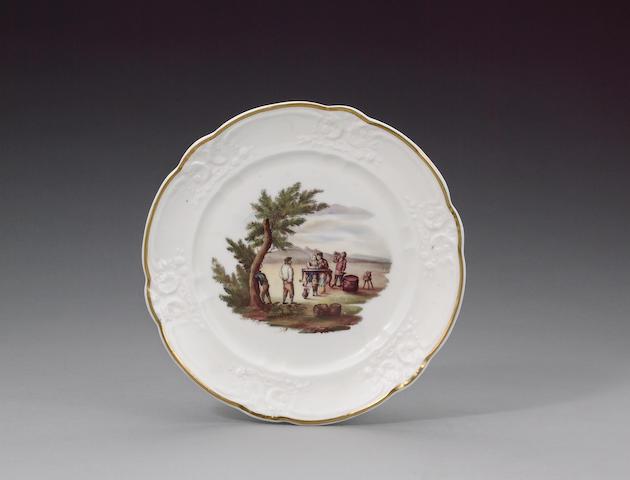 A rare Nantgarw plate circa 1818-20