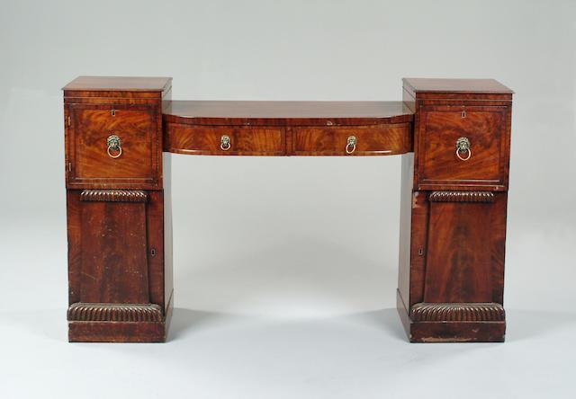 A William IV mahogany pedestal sideboard