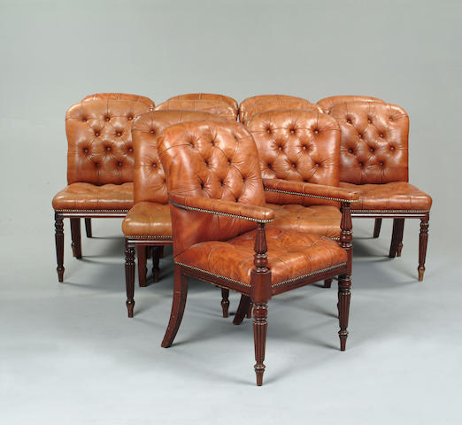 A set of eleven William IV style mahogany dining chairs