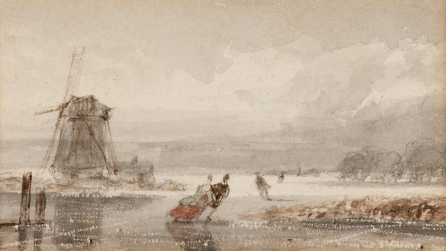 Nicolaas Johannes Roosenboom (Dutch, 1805-1880) 4 x 7.5 cm. (1 1/2 x 3 in.) & 3 others of a similar size (4).