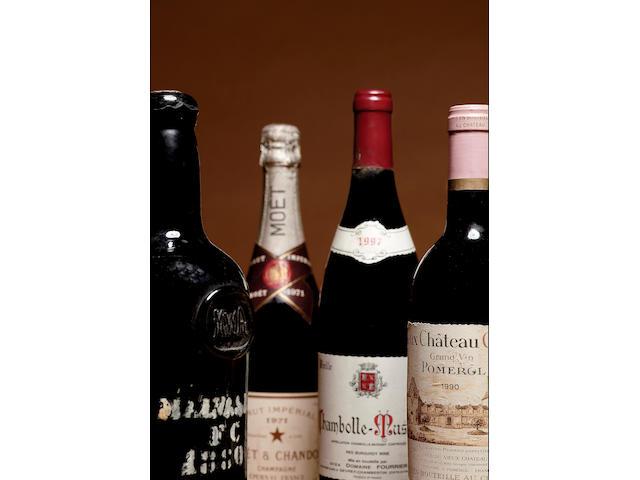 A de Rothschild 1964 (1) Moët et Chandon Rose 1971 (1)Charles Heidsieck 1976 (1)Laurent Perrier 1985 (4)Ayala Blanc de Blancs 1983 (1)Mercier 1988 (1)