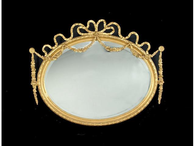A late 19th century gilt composition mirror