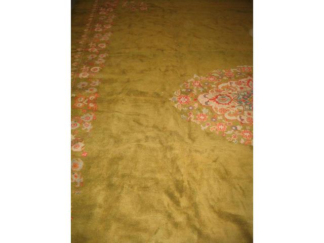 A Turkish carpet 419cm x 312cm