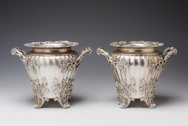 A good pair of George III wine coolers by Paul Storr, 1819,
