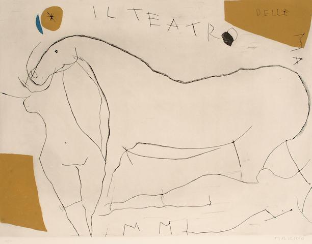 Marino Marini (Italian, 1901-1980) Il Canto I, from the Teatro delle Maschere 19 x 25 in (48 x 63.5c